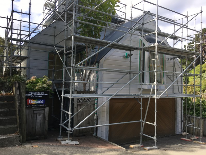External House painting Wellington painter wellington - VH Painting Services Exterior House Painting before - VH Painting