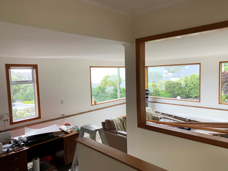 Plastering and Painting Wellington painter wellington - Interior Windows After - VH Painting